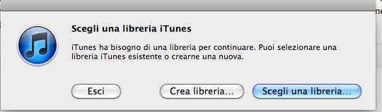 selezionare diverse librerie iTunes