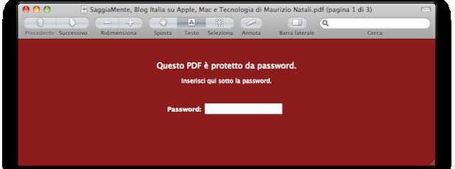 password su pdf