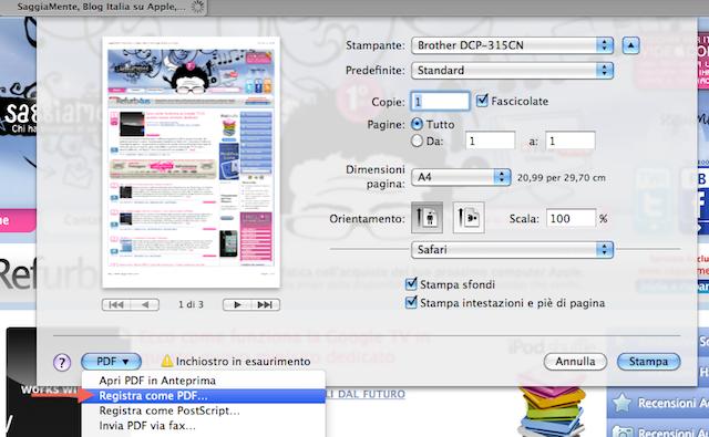 registra come pdf