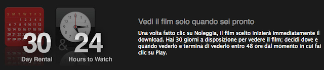 noleggio film iTunes Movie Store