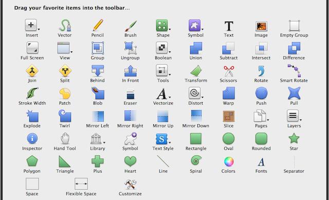 personalizza toolbar
