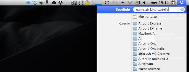 spotlight ricerca avanzata