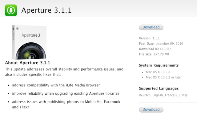 Aperture 3.1.1