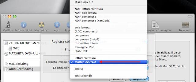 creare un file ISO su Mac