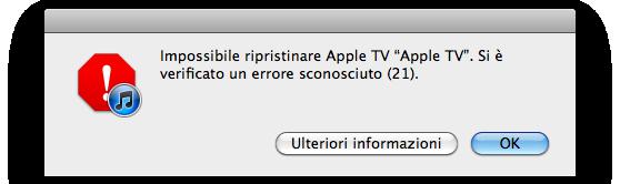 errore downgrade