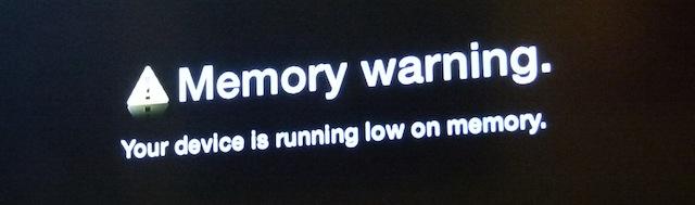 memory warning