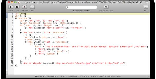 codice js