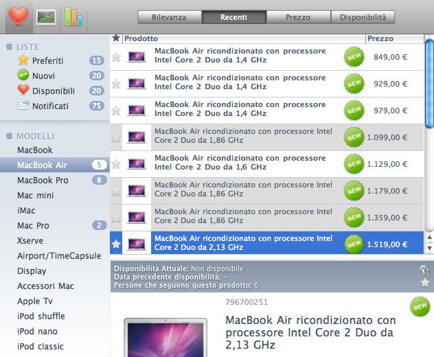 macbook air ricondizionati