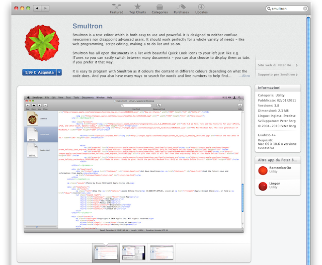 smultron in mac app store