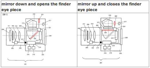 nikon half mirror lock up patent Nikon patents update (half mirror, flash with built in bounce system)