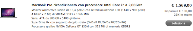 macbook pro sconto