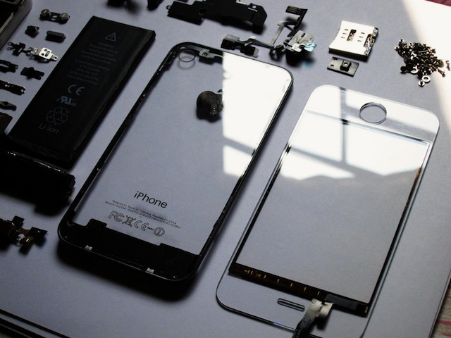 Transparent iPhone 4 glass