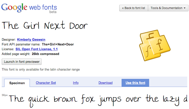 google webfonts