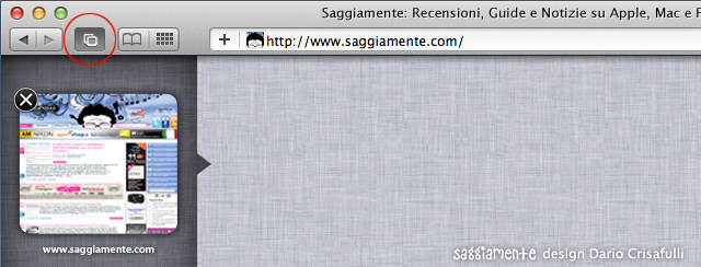 Safari6 saggiamente tab