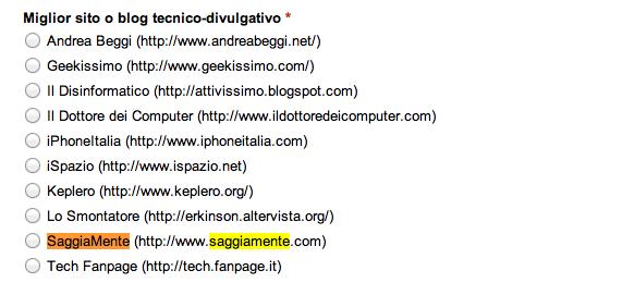 saggiamente macchianera blog awards