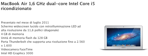 ricondizionati apple macbook air