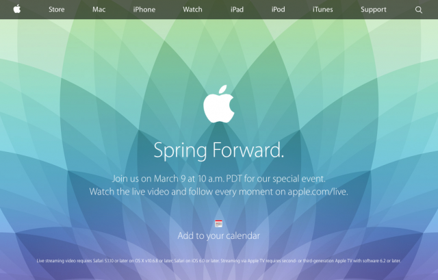 apple 9 marzo
