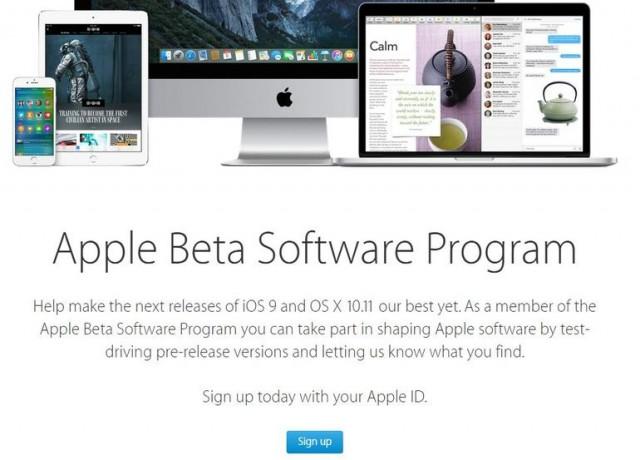 iOS 9 beta pubblica