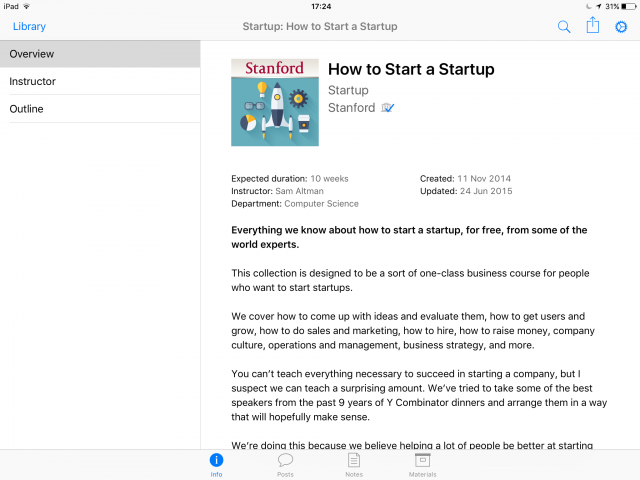 iTunes U how to start up
