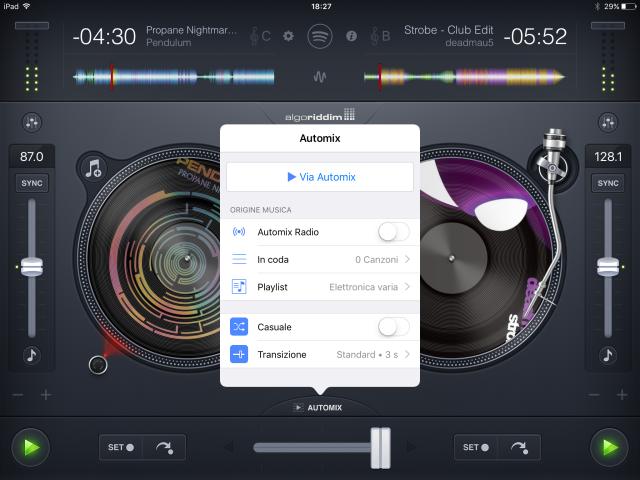 djay 2 iPad Automix