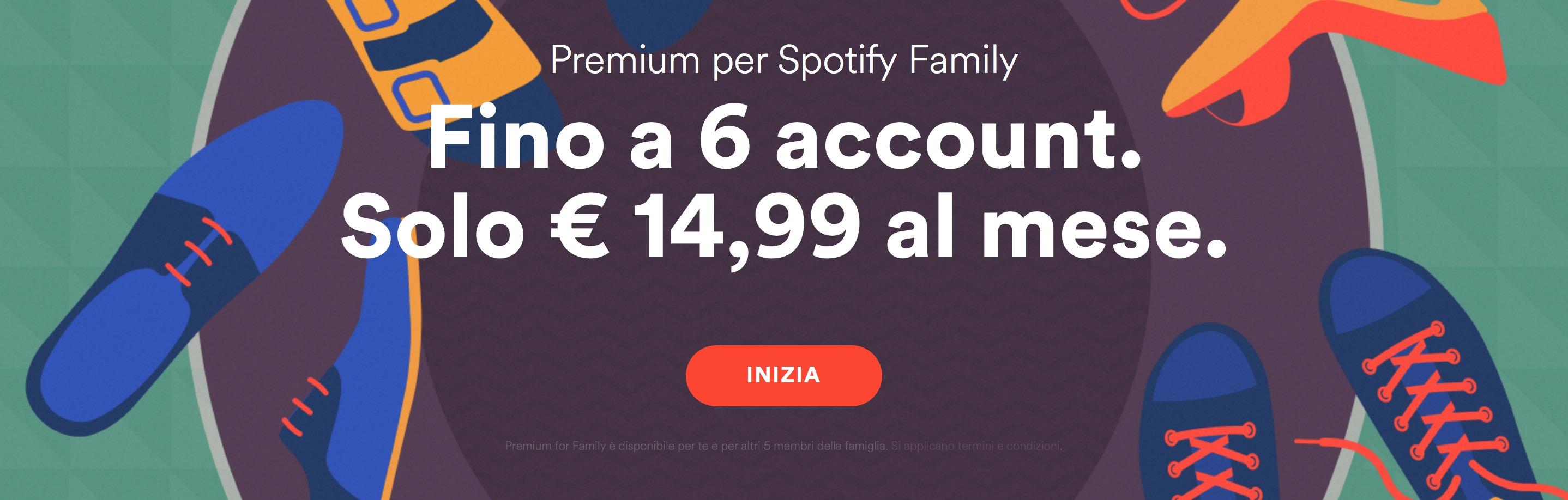 account famiglia spotify