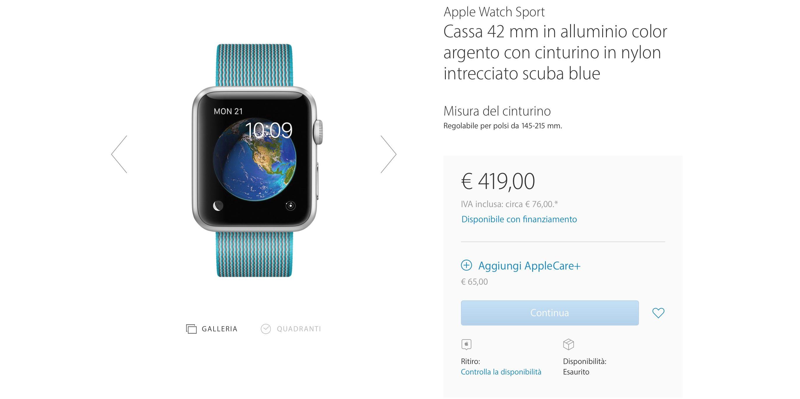 Apple Watch è in esaurimento sullo store online: i rumor sulla seconda generazione