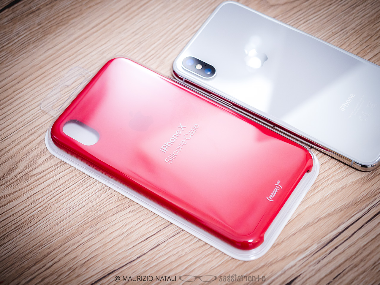 APPLE Custodia Folio in pelle per iPhone X (PRODUCT)RED Euronics