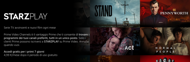 Amazon Prime Video Infinity Selection Starzplay MGM